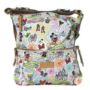 NWOT Dooney & Bourke Disney Nylon Sketch Hobo Bag